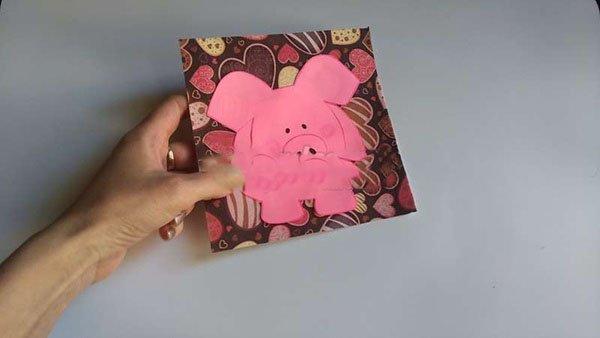 Своими руками открытка с новым годом свиньи