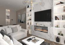 Электрические камины для гостиной