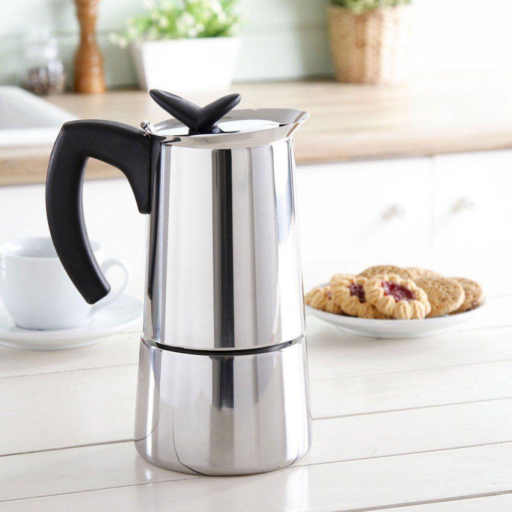 гейзерная кофеварка из нержавейки