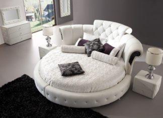 Особенности круглых кроватей