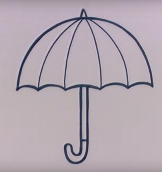Картинка поэтапное рисование зонта