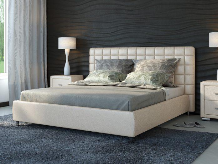 Красивая кровать для спальни