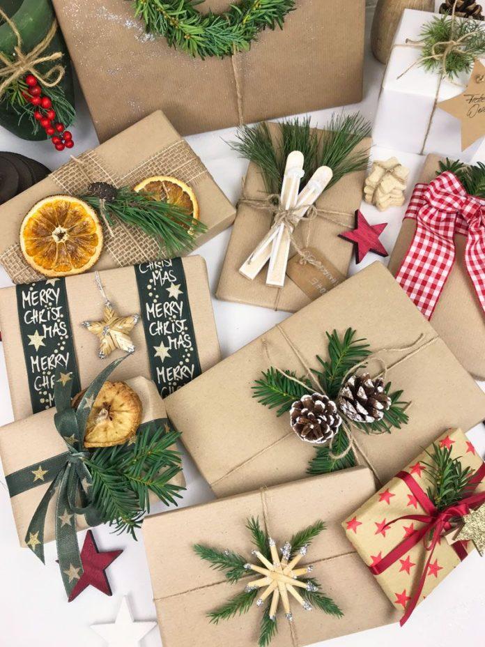Виды упаковки новогодних подарков